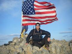 Rock Climbing Photo: Me on summit of Mount Borah, Idaho