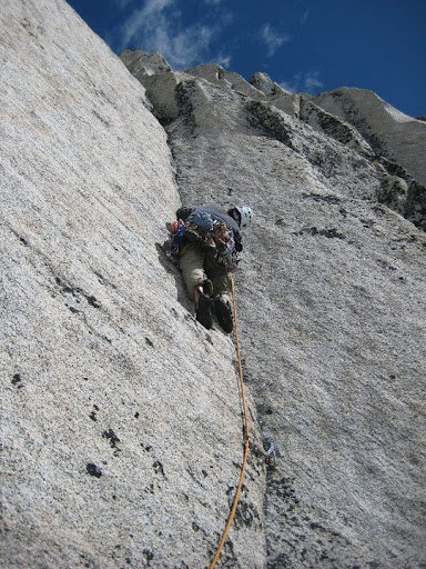 Rock Climbing Photo: Brilliant .10d fingers on the 4th pitch.