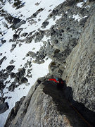 Rock Climbing Photo: The sweet hand crack above the roof on the 2nd pit...