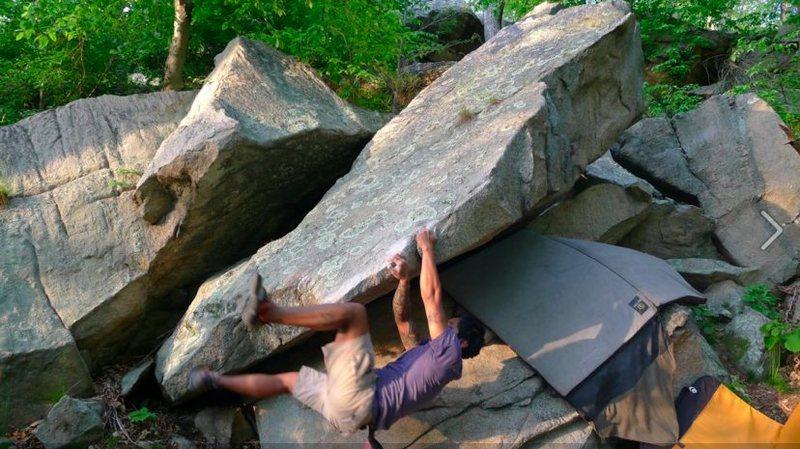 Rock Climbing Photo: Turning the corner on Boomerang
