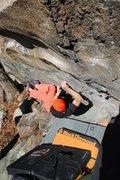 Rock Climbing Photo: The lock off crux