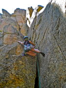 Rock Climbing Photo: At the start of Crossbow.