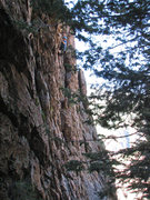 Rock Climbing Photo: Kip just before the crux.