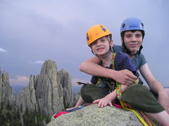 Rock Climbing Photo: The boys on the summit