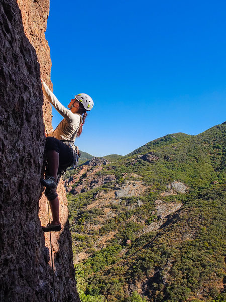 Rock Climbing Photo: Climbing in the Tea Room against a stunning backdr...