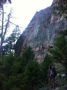 Rock Climbing Photo: Lacy Panties Topo
