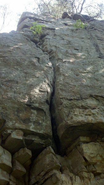 "Rock Climbing Photo: ""Christmas Crack"". Palisades Park, AL."
