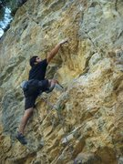 Rock Climbing Photo: leading the 5.11 on yellow pine left on mt.charles...