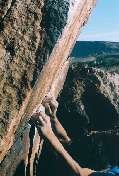 Rock Climbing Photo: crimp on vanbaten arete