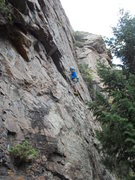 Rock Climbing Photo: Garrett Gillest on the Stanley Slab, leftmost bolt...