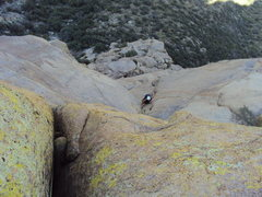 """Rock Climbing Photo: The """"Organ Grinder"""" - looking down on th..."""