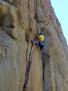 Rock Climbing Photo: Not the usual crack line.  More face moves than cr...