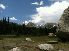 Rock Climbing Photo: Boulder and Sawtooth