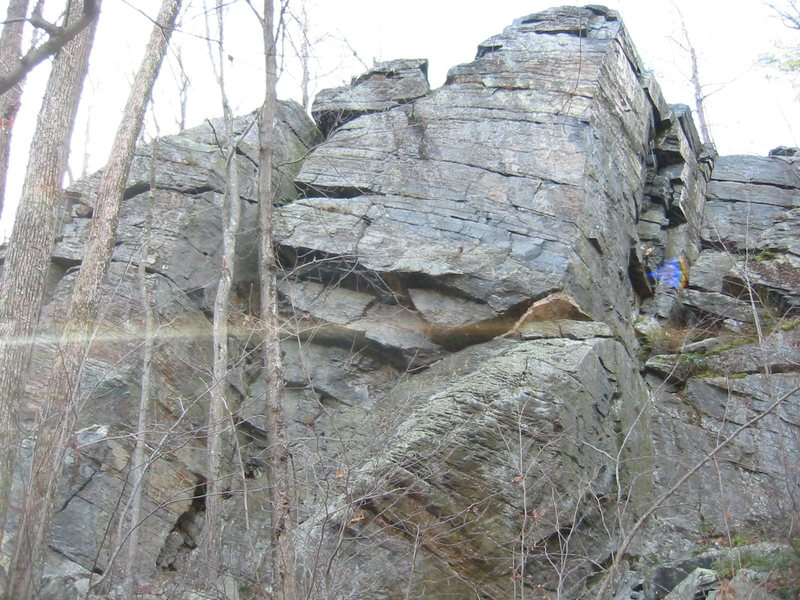 Rock Climbing Photo: chimney crag overview