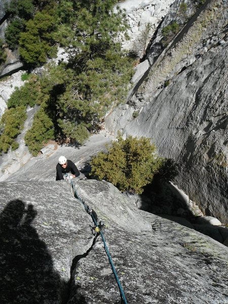Rob Beno following Black Rabbit 5.10a