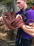 Rock Climbing Photo: Coiling some rope