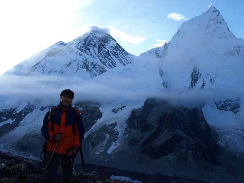 Everest from Kala Patthar (18044 f), Hymalayas