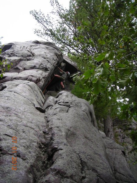 Rock Climbing Photo: Steve Z. making that final exciting pull over the ...