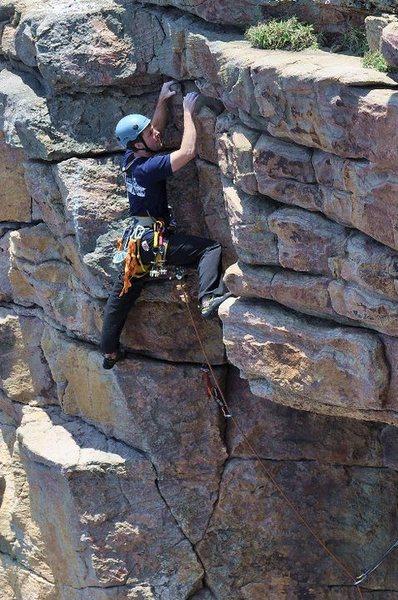 Me climbing RastaBirds.<br> <br> Photo by Matt Robertson.