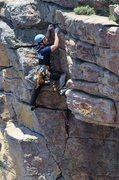 Rock Climbing Photo: Me climbing RastaBirds.  Photo by Matt Robertson.
