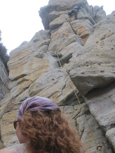 Me climbing, Karissa belaying