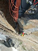 Rock Climbing Photo: The steep P3 of D7....