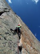 Rock Climbing Photo: Aaron starting up the A4 traverse....
