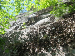 Rock Climbing Photo: The start of Midnight Special during the onsight F...