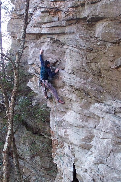 Rock Climbing Photo: Obscure Linville action