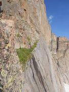 Rock Climbing Photo: Erin Newton on Broadway in July.