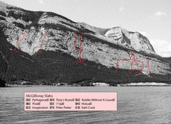 Rock Climbing Photo: McGillivray Slabs from the Banff Rock PDF that has...