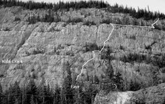 Rock Climbing Photo: McGillivray Slabs route - Faye. Stumbled across th...