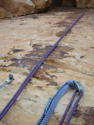 Rock Climbing Photo: This is the roof pitch. This is what the anchor lo...