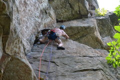 Rock Climbing Photo: Starting the traverse on Roseland in the Gunks