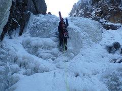 Rock Climbing Photo: First ice bulge in the Trap Dike
