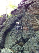 Rock Climbing Photo: Carol Walters on left side cracks.