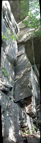 Rock Climbing Photo: Vertical pano of the route.