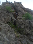 Rock Climbing Photo: At the third bolt.  I think going left around the ...