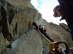 Rock Climbing Photo: Shirley leading Sinsemilla (May 2011).