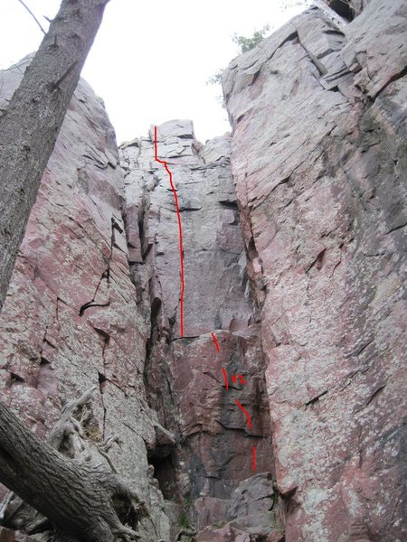 "Rock Climbing Photo: ""The Ottobahn"" route line.  Photo borrow..."