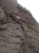 Rock Climbing Photo: Bill H leading Face Off.