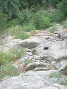 Rock Climbing Photo: Chris U. about to finish the first technical secti...