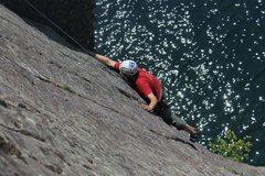Rock Climbing Photo: Bill Rusk at the start.