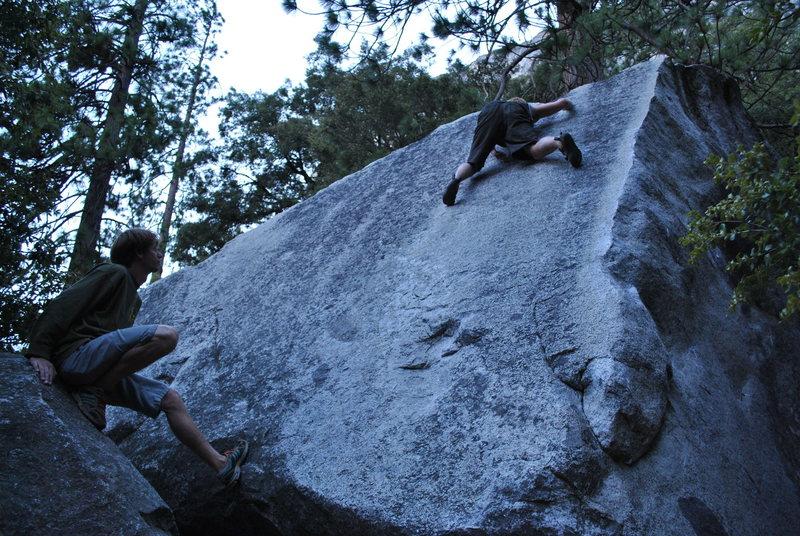 Rock Climbing Photo: not as scary as big greeny but way slicker