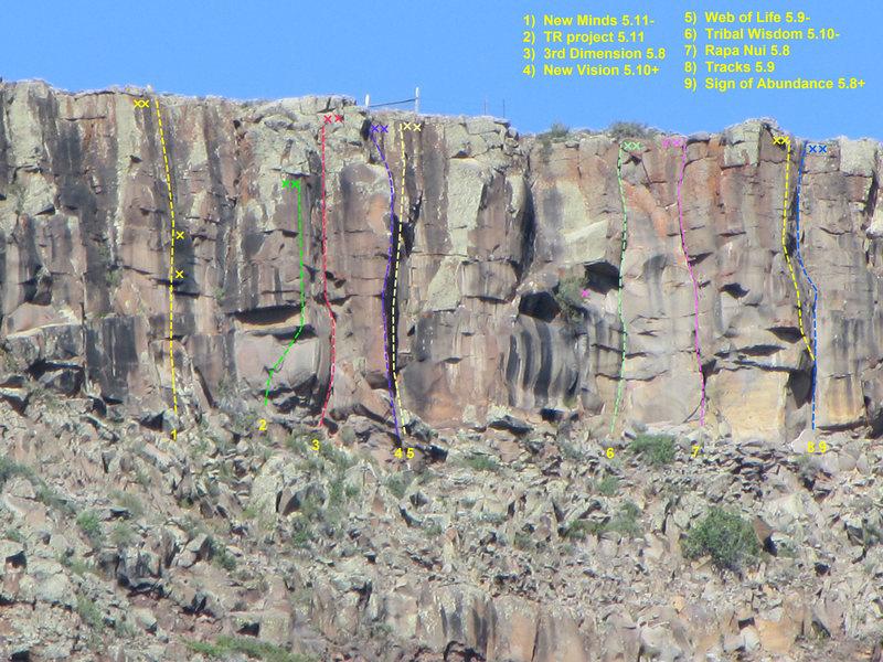 Rock Climbing Photo: Beyond Civilization overview.