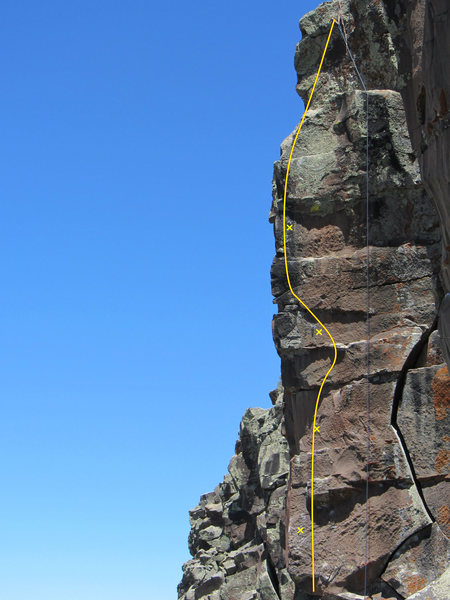 Rock Climbing Photo: The route.