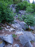 Rock Climbing Photo: climber's trail off the Sentinel main trail