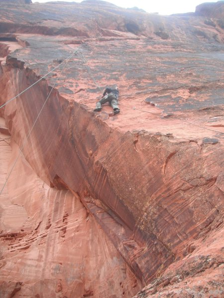 """""""Living on the Edge"""", Snow Canyon, Utah.  Great route."""