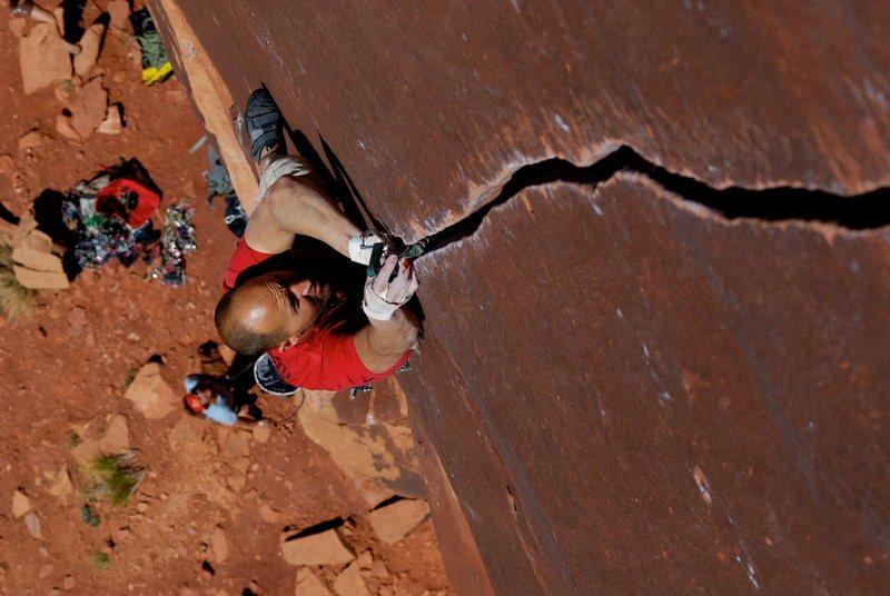 Rock Climbing Photo: Carter crushing it
