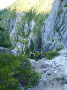 Rock Climbing Photo: starting the long descent